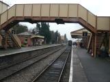 Footbridge between platforms