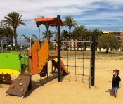 Playground by the beach