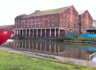 old warehouses at Gloucester Docks