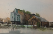 painting of the old warehouse