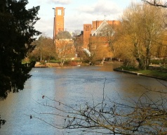 Theatre seen from the River Avon