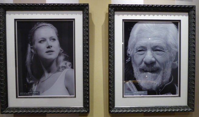 Young Helen Mirren as Cressida in 1960s and Ian McKellan as King Lear2007