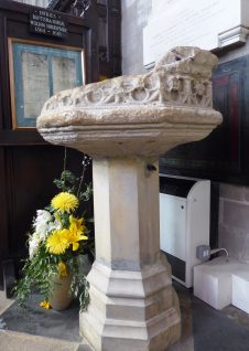 The font in which Shakespeare was baptised in 1564
