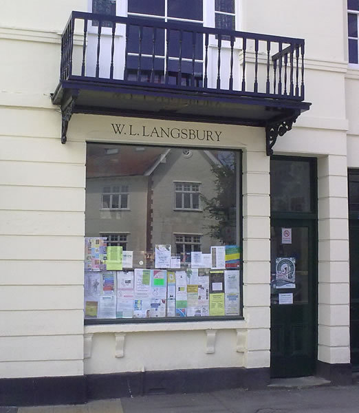 W L Langsbury Printers front