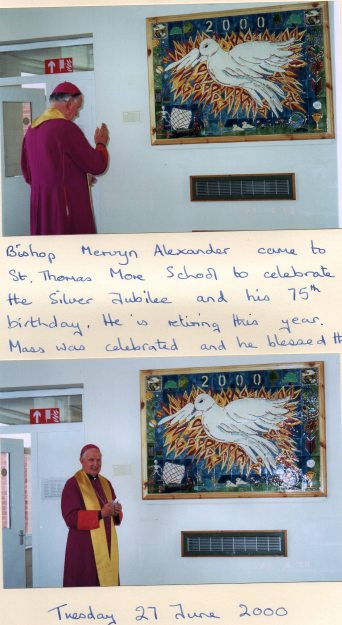 Bishop Mervyn, RIP, blessing our frieze