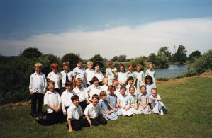 Year 6 by the River Severn at Wainlodes 1996