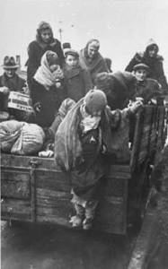 children loaded onto transport to concentration camps