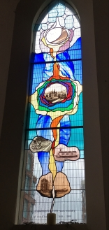 Stained Glass Window showing history of the Docks