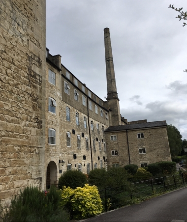 Dunkirk Mill in Nailsworth, once the Fulling Mill at the heart of the wool industry in the area, now lovely apartments. Fulling hammers pounded the locally made woollen dampened cloth to shrink and soften it.