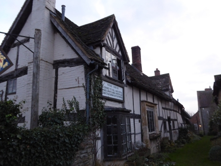 The FLEECE INN at Bretforton. many pubs reflect the importance of the wool trade in their names.