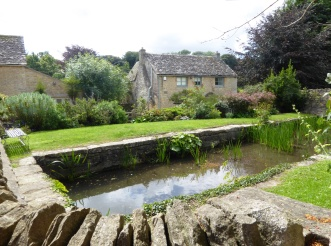 Mill stream that flows in front of the Northleach church to the mill
