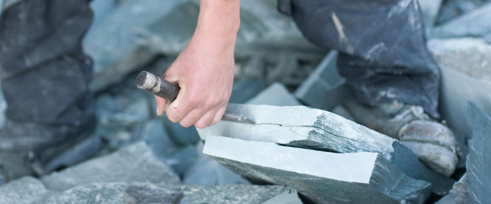 chiselling the slate
