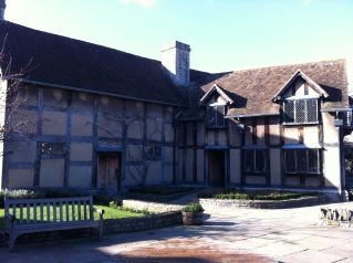 Rear of Shakespeare's birthplace where his father John had a tannery for his glover's business