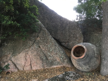 Granite boulders in the garden