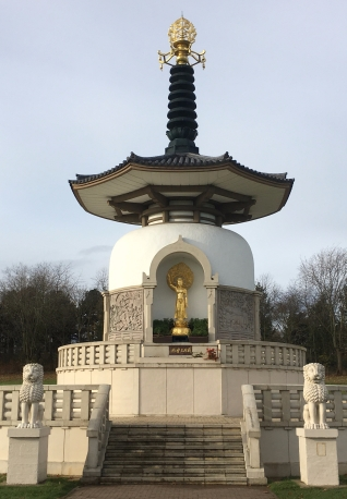 Peace Pagoda with lions