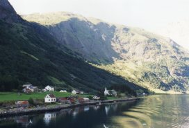 Village along the fjord