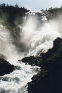 Waterfall seen from Flam railway