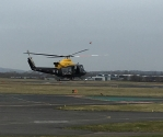 Taking off from Staverton Airport