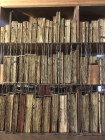 Medieval Manuscripts lined up and chained