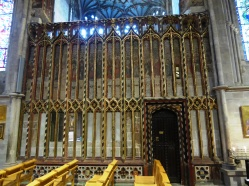Medieval Partition and painted walls in hereford Cathedral