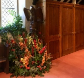 A beautiful carved lectern